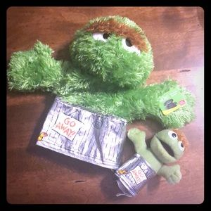 Oscar the Grouch Hand and Finger Puppets